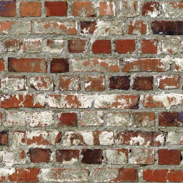 Tapete rote Steinmauer Dachboden