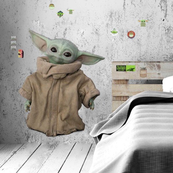 Wandsticker Mandalorian Baby Yoda XXL
