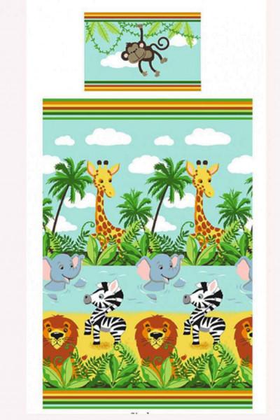 Bettwäsche Dschungeltiere Safari Zebra Löwe