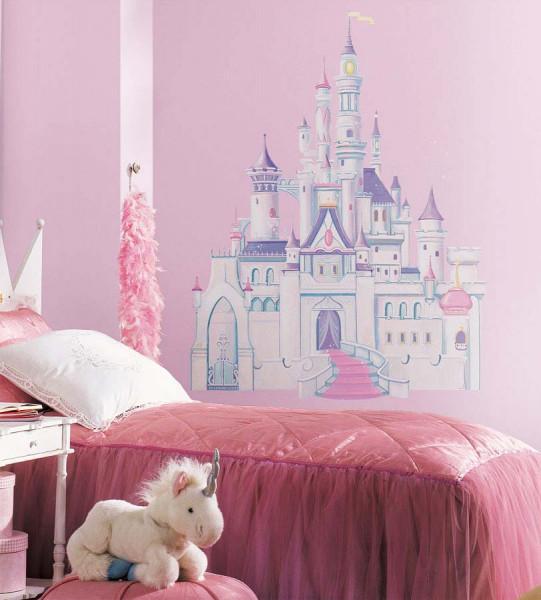 Wandsticker Disney Märchenschloss Glitter Mädchenzimmer