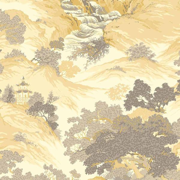 Tapete Landschaft Orient gelb