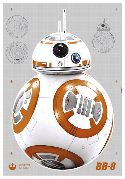 Wandsticker Star Wars Droide BB-8 Jugendzimmer