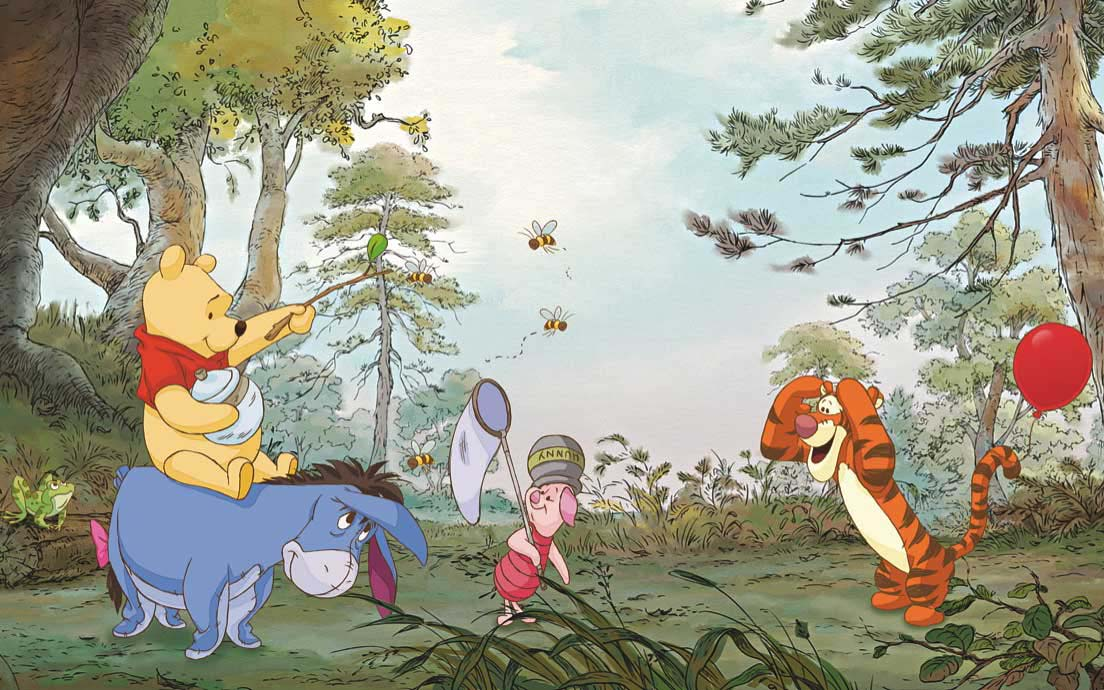 Fototapete Disney Winnie Pooh Zuhause | tapetenwelt