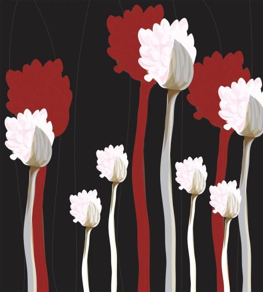 Vliestapete Grafik Pflanzen 225x250
