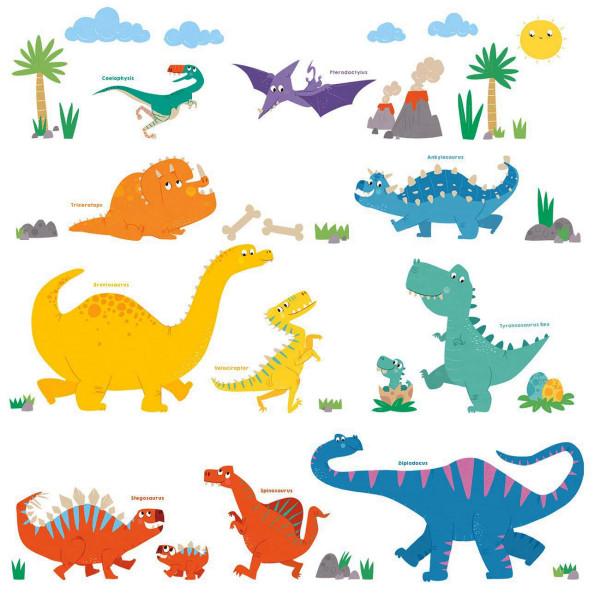 Wandsticker Baby Dinosaurierwelt