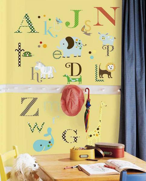 Wandsticker Tier Alphabet