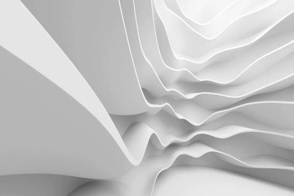 Vliestapete weiße Welle 375x250