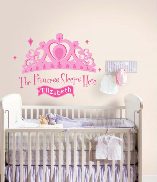 Wandsticker The Princess Sleeps Here Babyzimmer