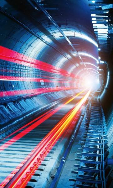 Vlies Fototapete Tunnel 150x250