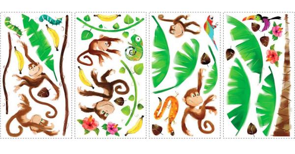 Wandsticker Monkey Island Affen