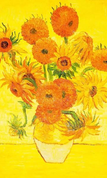 Vlies Fototapete Sonnenblumen Vincent van Gogh 150x250