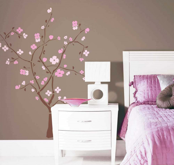 Wandsticker Frühlingsblütenbaum Schlafzimmer