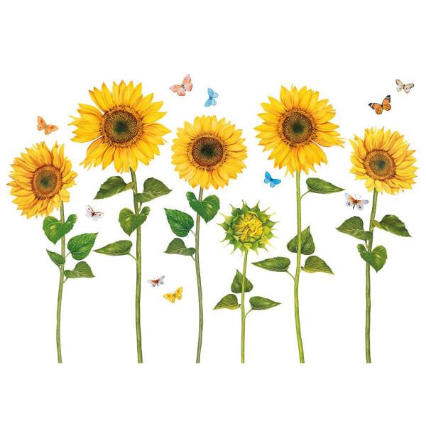 Wandsticker Sonnenblumen Aquarell