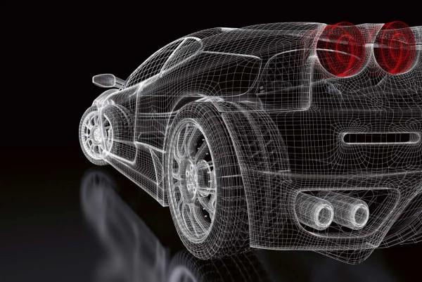 Vliestapete Auto Design 375x250