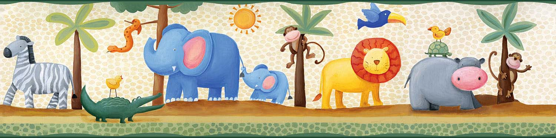 Bordure Kinderzimmer Tiere