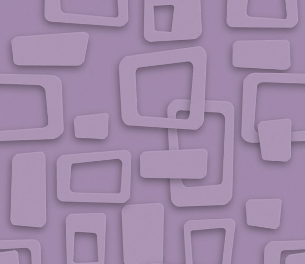 Vliestapete 3D-Optik Frames lila