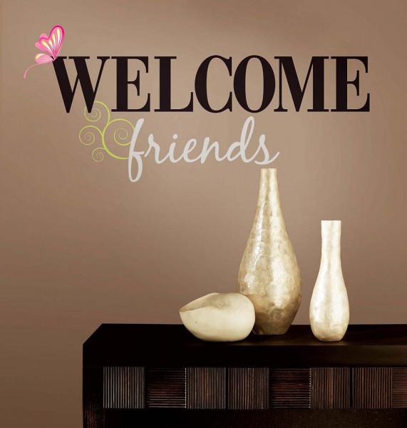Wandtattoo Welcome Friends Flur