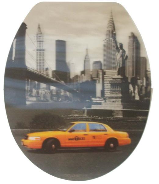Toiletten-Deckel 3D-Aufkleber New York