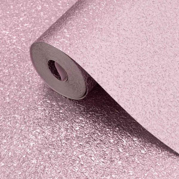 Vinyl Tapetenrolle Metallic Schimmer Textur soft pink