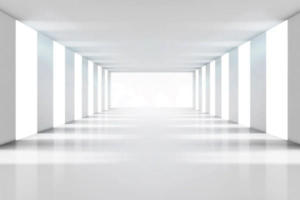 Vliestapete weißer Raum 375x250