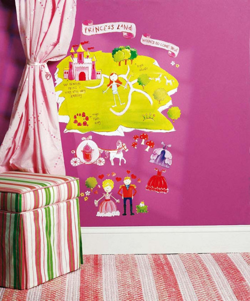 Wandsticker Wallplay Prinzessinnen Land Kinderzimmer