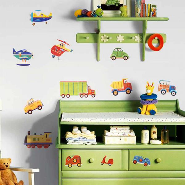 Wandsticker Transportfahrzeuge Laster Babyzimmer