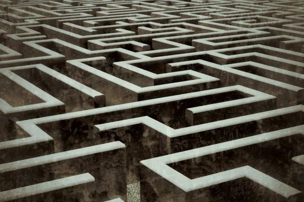 Vliestapete Labyrinth 375x250