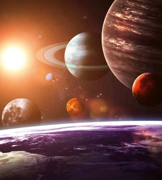Vliestapete Sonnensystem 225x250