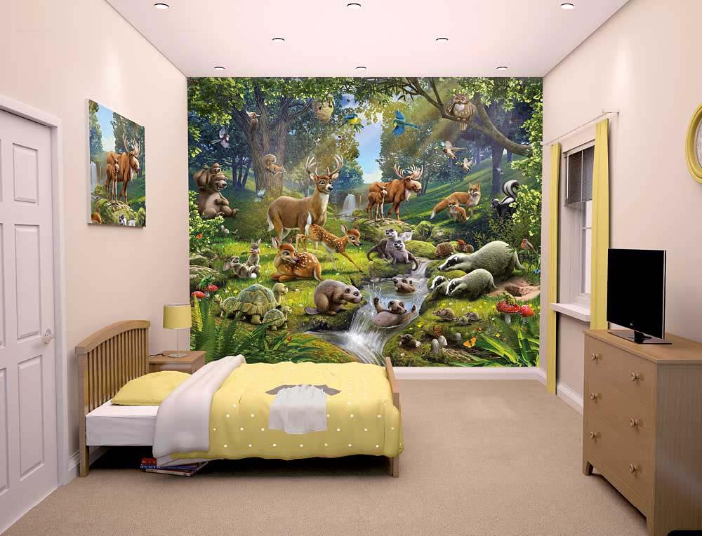 Fototapete Kinderzimmer Waldtiere | tapetenwelt