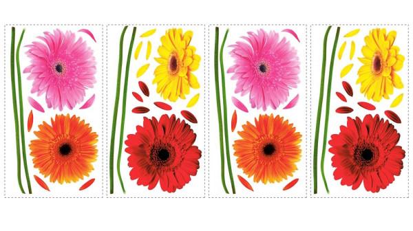 Wandsticker Gerbera Blüten