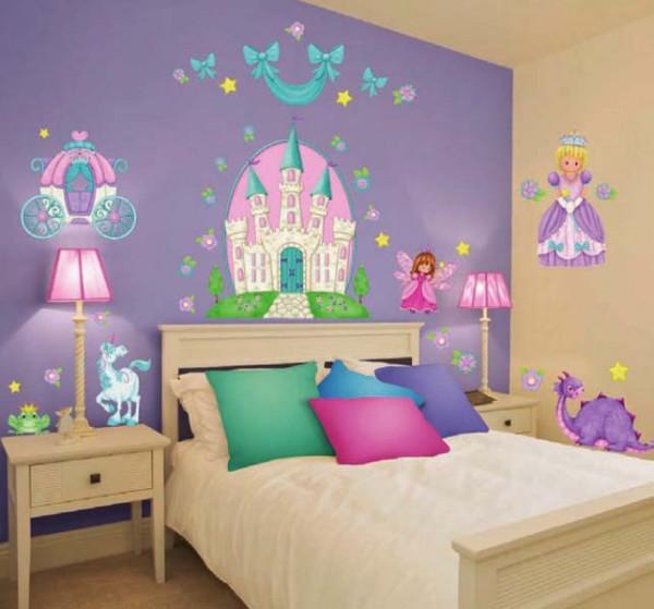 Eck-Wandsticker kleine Prinzessin Kinderzimmer