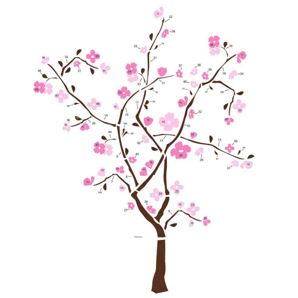 Wandsticker Frühlingsblütenbaum
