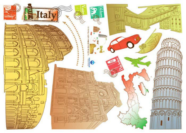 Wandsticker Italien Viva Italia