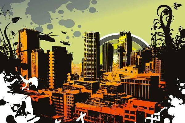 Vliestapete City 375x250