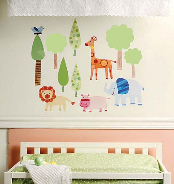 Wandsticker Zootiere Babyzimmer