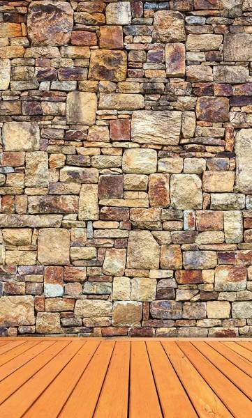 Vlies Fototapete Steinmauer 150x250