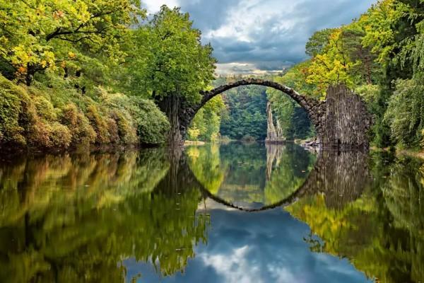 Vliestapete Bogenbrücke 375x250