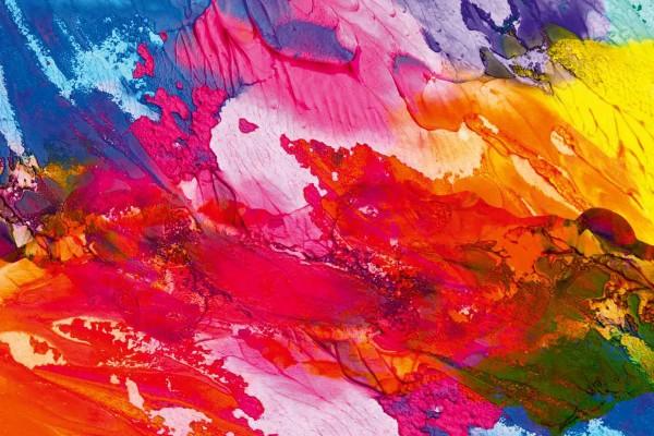 Vliestapete Explosion der Farben 375x250