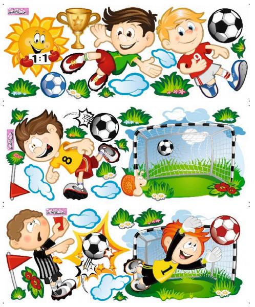 Wandsticker Fußballspiel Tor