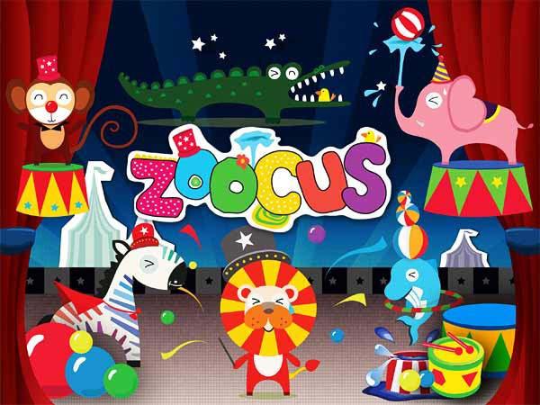 Wandsticker Tiere Zirkus Manege