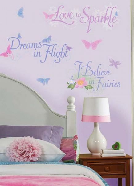 Wandsticker Disney Fairies Feensprüche Mädchenzimmer