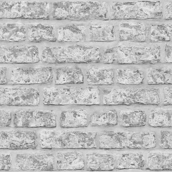 Tapete rustikale Steinmauer grau
