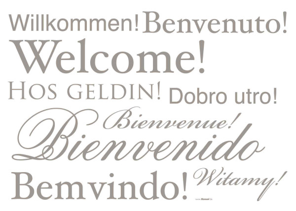 Wandsticker Welcome Willkommen Witamy