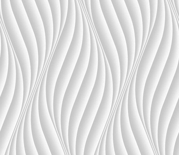Vliestapete 3D-Optik Wellen vertikal weiß
