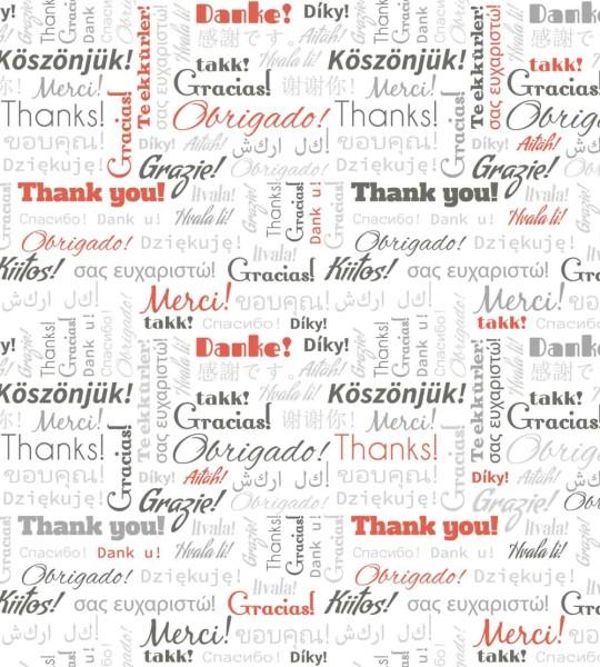 Vliestapete Thank You 225x250
