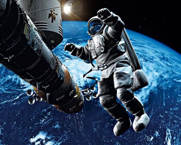 Fototapete Vlies Wandbild Astronaut Weltraum