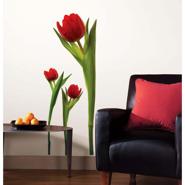 Wandsticker Tulpen Wohnzimmer