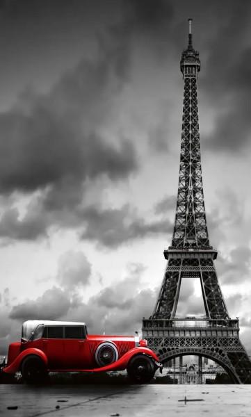 Vlies Fototapete Oldtimer in Paris 150x250