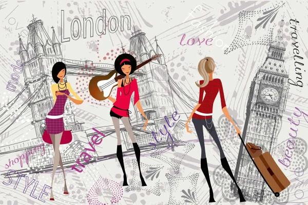 Vliestapete London Style 375x250