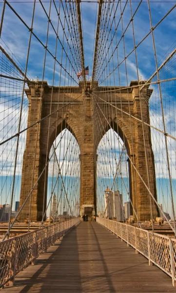 Vlies Fototapete Brooklyn Bridge 150x250